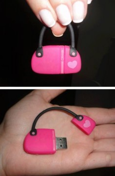 Pink purse flash drive