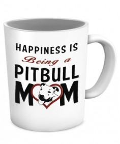 "Pitbull Mom Coffee  ""Happiness is beeing a Pitbull Mom"""
