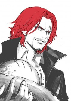 Pixiv Id 1417939, ONE PIECE, Shanks, Spot Color, Straw Hat, Holding Object