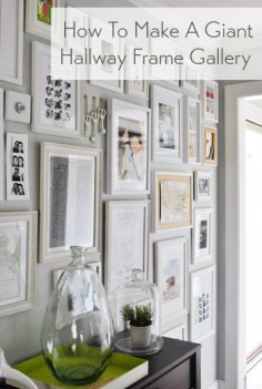 Plaster an entire hallway with frames.