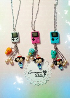 Pokemon Jewelry Pokemon Necklace Pokemon by SentimentalDollieZ, $