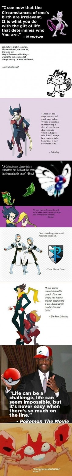 Pokemon quotes.