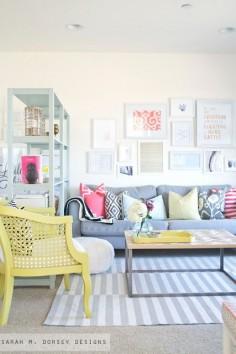 Primitive & Proper: It's Eclectic! Boogie Oogie Oogie: Sarah M. Dorsey Designs Home Tour