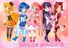 #puella #magi #madoka #magica #kaname #sayaka #miki #kyoko #sakura #akemi #homura #mami #tomoe #sailor #moon #mercury #mars #jupiter #venus #sailorv #v #usagi #tsukino #rei #hino #minako #aino #makoto #kino #ami #mizuno #fanart #crossover #manga #anime #magic #bunny