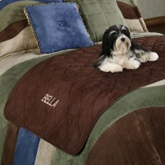 Quilted Faux Suede Bed Protector for Pets