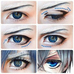 @Regrann from @Inevelichka -  Ciel Phantomhive Makeup Tutorial  Lenses from @uniqso  Good Luck   #makeuptutorial #cosplaymakeup #cielphantomhive #cielphantomhivecosplay #blackbutler #kuroshitsuji #blackbutlercosplay #cielcosplay #harajukumakeup #dollyeyes #uniqso #makeupartist #Regrann