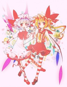 Remilia and Flandre Scarlet from Touhou Project