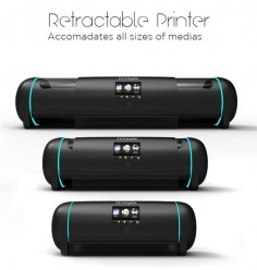 Retractable Printer adjusts its size to your needs. This is a great idea. Since this story is from 2012 I'll check to see if it made it past the concept stage.