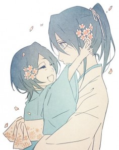 Rukia and , I've been having some serious Kuchiki sibling feels today, and this was to adorable not to pin.