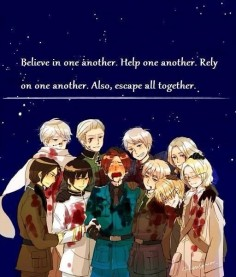 Russia, China, Germany, Italy, America, Japan, France, England, Canada, Prussia, Axis Powers Hetalia
