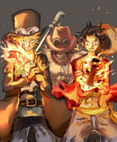 Sabo, Ace, and Luffy _One Piece