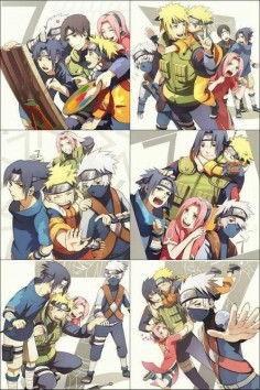 Sai, Minato, Sakura, Itachi, Naruto, Sasuke