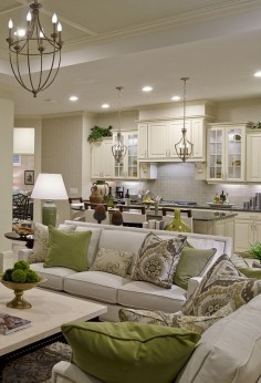 Sanibel Model - Living Room Kitchen living room layout