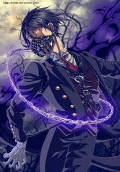 Sebastian Michaelis by ioshik on DeviantArt, colored panel from Chapter 99.