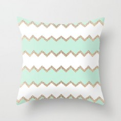Secondary color and pattern   AVALON SEAGREEN Throw Pillow by Monika Strigel | Society6 $