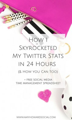 See how my Twitter exploded and my stats skyrocketed by  in just 24 hours! (Grab the spreadsheet to skyrocket your Twitter stats too.)