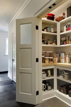 Shallow shelves are the way to go. No goods hiding behind other goods.