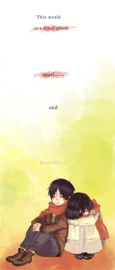 Shingeki no Kyojin : Eren and Mikasa by ~xiaomei23mai on deviantART