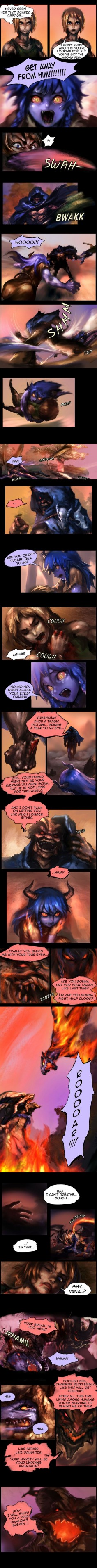 Shyvana~ The Half Dragon Tale. Page 5/6 by ptcrow