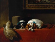 Sir Edwin Henry Landseer, 'King Charles Spaniels ('The Cavalier's Pets')' 1845, exhibited 1845