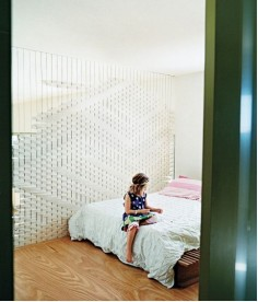 Small Space Solutions: Off-the-Wall Room Dividers that Work. This is woven felt divider, seen in Dwell Magazine
