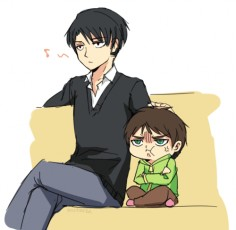 ~ Snk ~ :: Levi and Little Eren