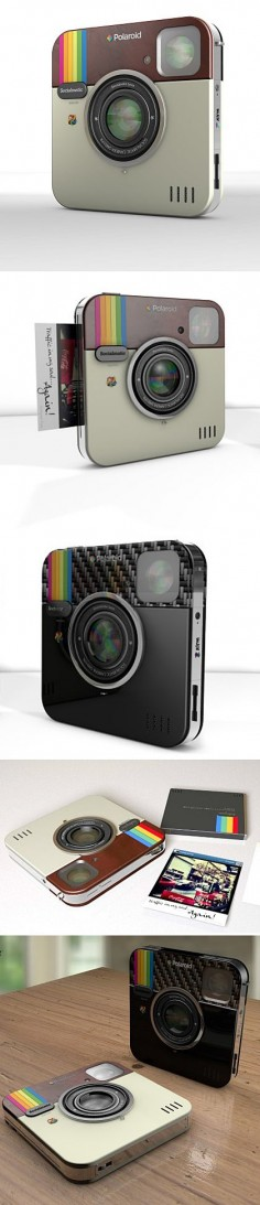 """Socialmatic : Cool Instagram-Inspired Camera"" ---- I'm sorry, but no. Instagram's logo is from the Rainbow edition poloroids. not the other way  this new camera might be designed after the insta logo, but it's a rainbow. Still cool, though."