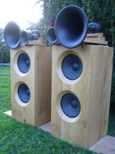 solid wood speakers