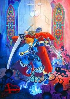 Sora & Auron - Kingdom Hearts II
