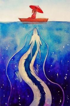 Spirited Away - Chihiro and Haku (by Qinni)