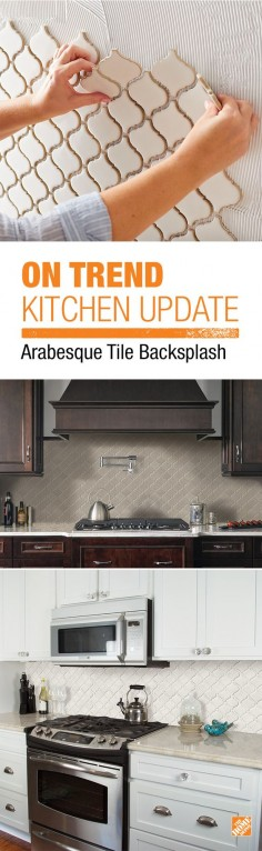 Stay under budget on your DIY kitchen project with MS International Bianco Arabesque Ceramic Mosiac Wall Tile. This affordable tile features a mesh sheet for easy installation. In elegant neutral shades, this glossy porcelain creates a distinct pattern for various install projects in bathrooms, kitchens and other residential or commercial spaces.