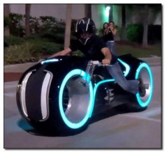Street legal Tron bike.