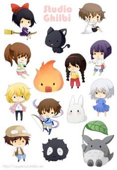 Studio Ghibli Stickers by Darkshia & Sayukino Store