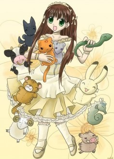 Such a beautiful picture. Tohru with the zodiacs.   #anime #fruitsbasket #tohru