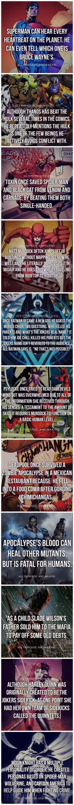 Superhero Facts: Part 1