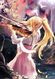"Sweet violin by Chocobo974 ""Your Lie in April""? Yup definitely gotta  *sobs quietly*"