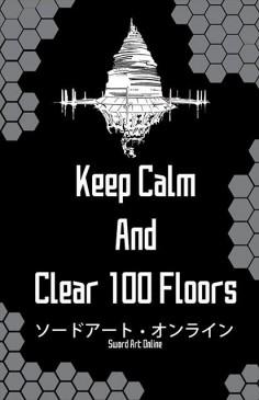 Sword Art Online SAO Keep Calm Print 11x17 by BenjinxDesigns, $