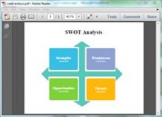 SWOT template for PDF #swot