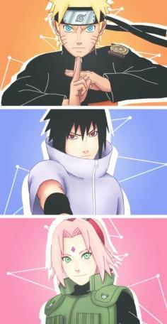 Team 7 #naruto #sasuke #sakura