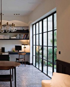 Terrazzo floors. Steel doors. Modern and stylish