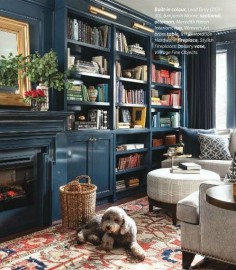 thanks, @Christina Childress Childress Umbriaco ! love it! Glossy blue library with perfect