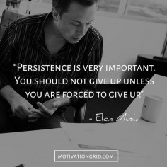 The 15 Most Remarkable Elon Musk Quotes, persistence, hard work, inspiring quote