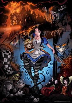 the coolest alice in wonderland picture i've ever seen.