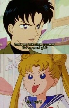 The original Sailor Moon was funny and endearing, but one of the things I hated about it was the way Mamoru treated Usagi. Crystal definitely shows the more true side to his character.