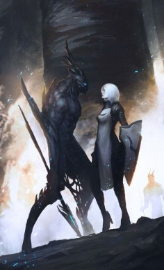 The Paladin and the Demon - Character Concept Art