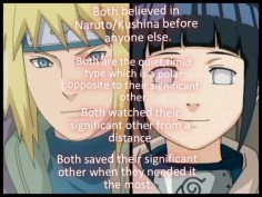 The similarities between Minato and Hinata.