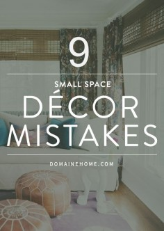 The ultimate guide with easy tips for decorating small spaces and maximizing square footage.