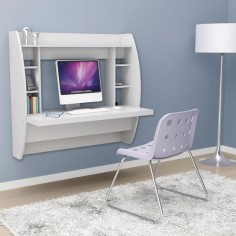 The Wall Mounted Desk from Hammacher Schlemmer. Super great gadget to save room in the house! #Wall #Desk