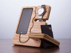 The Wood Docking Station Doubles as a Desk Organizer