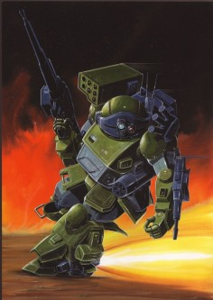 thebloggerformerlyknownasmadcap:  So in addition to being my birthday (as well as Joe Strummers) today is the 30th anniversary of Armored Trooper VOTOMs: The Last Red Shoulder which is easily my favorite VOTOMs OVA